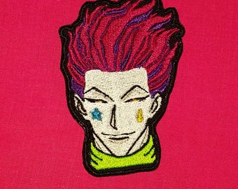 Hunter x Hunter Hisoka inspired Patch, Iron On on or Sew On
