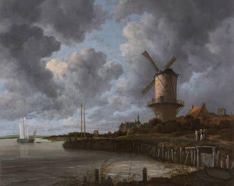 Vintage Landscape (1670), Landscape print, Print on canvas, Fine Art Print, Wall Décor, Home décor, Office décor, Large Print, Gift