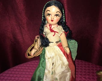 Doll - Antique Vintage Furga Character Celluloid or Paper Mache Doll