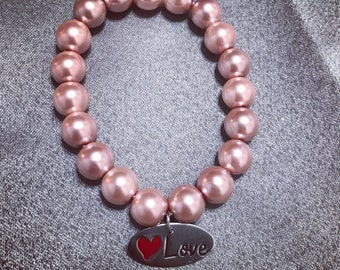 Rose Gold Love charm bracelet