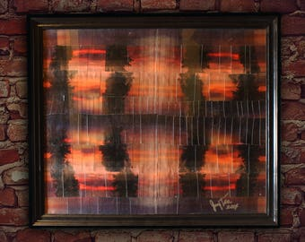 Sunset Art Collage Framed Psychedelic Photograph