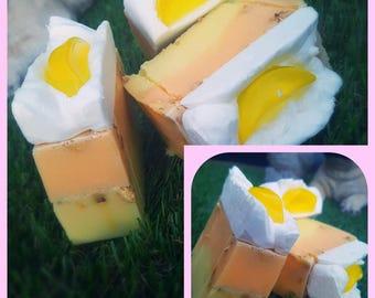 Lemon Meringue Pie Soap - Handmade, Vegan, Cruelty Free Soap - Limited Edition