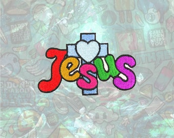 Jesus Patch Punk Back Patch Iron on Patch Sew On Patches