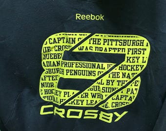 Rare!!! Reebok Hoodie Pullover Spellout Crosby Double Pockets Multicolors