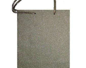 Bellows color metallic gold gift bag