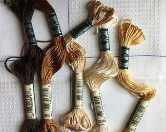Set of 5 skeins DMC rayon satin very sparkly effect
