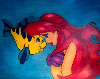 Disney's Ariel and Flounder