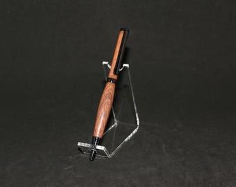 Pacific Rosewood Gun Metal Slimline Twist Pen