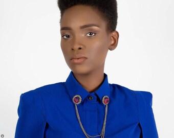 Collar pin shirt collar Pinky: bronze wax jewelry