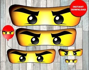 80% OFF Ninjago eyes for bag, balloon, stickers, lollipop, cups - Ninjago eyes 5 sizes - instant download