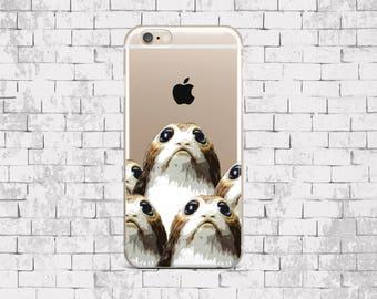 Porgs IPhone X case Star Wars iPhone 8 Plus case Google Pixel 2 case iPhone 7 Clear case iPhone 6 Porgs case Samsung S8 Silicone case LG G6