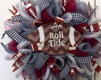 Alabama Roll tide Wreath