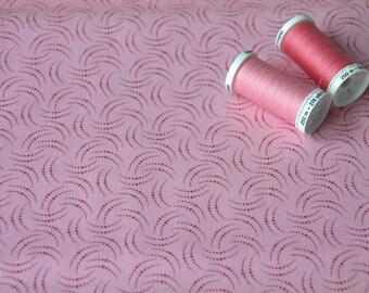 Patchwork patterns pink polka dot fabric