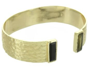 Black Onyx and Labradorite Bracelet