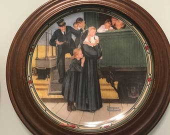 2 Norman Rockwell frame plates