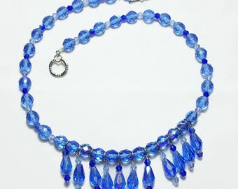 Something Blue Crystal Bridal Wedding Choker Necklace