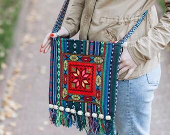 Ethnic Bag Hippie Bag Sling Crossbody Bag Festival Bag Boho Purse Fabric Bag Boho Tote Bag
