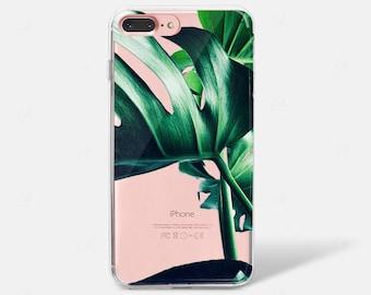 Tropical Leaf Palm Banana iPhone X Case iPhone 8 iPhone iPhone 6 iPhone 7 iPhone 7 PLUS iPhone 6 PLUS iPhone 8 Samsung Galaxy S7 S8 Clear
