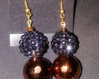 LID Enterprises, Hand Crafted Earrings, Black & Brown