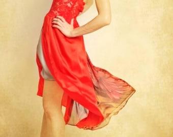 Summer silk dress, artistique fashion by Tangolace