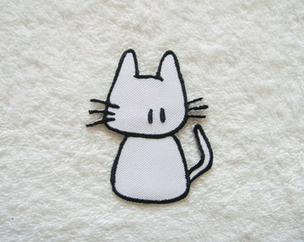 Cute Cat Iron On Patch Cat Embroidered Applique Patches For Jackets