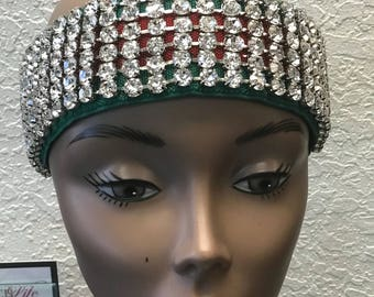 Custom Made Diamond  Web Headband High Quality