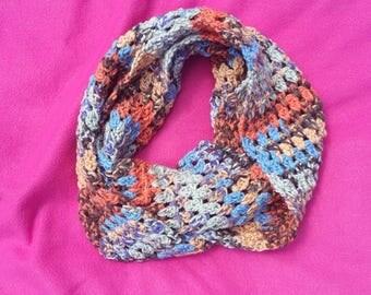 Infinity Scarf, Women's Scarf, Multicolored, Crochet Scarf