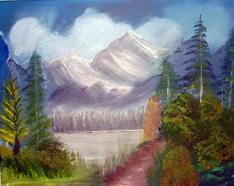 Oil Painting No: 034- Scenic View.