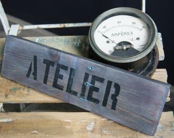 """Sign """"Workshop"""" wooden pallet wood"""