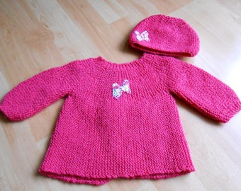 Jacket and hat baby set
