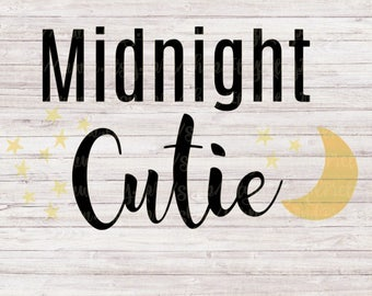 Midnight Cutie , Happy New Year SVG, DXF, PNG, Eps Files for Cameo or Cricut New Years Eve Svg, 2018 Svg,Happy New Year Svg