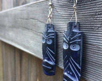 Tiki Time Earrings (Dark purple set)