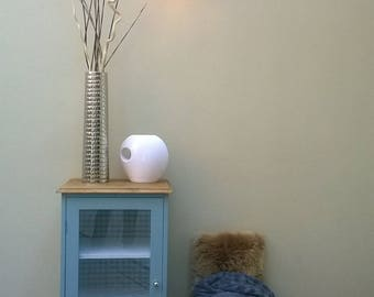 SMALL deep blue grey painted entrance furniture