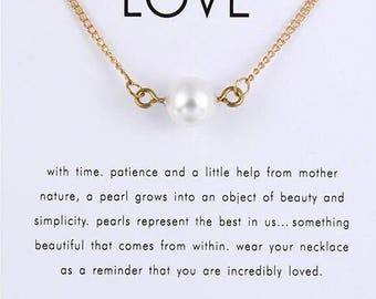 "Necklaces for women "" Pearl of Love"""