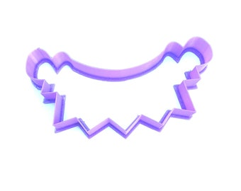Banner Cookie Cutter, Five Point Banner Cookie Cutter