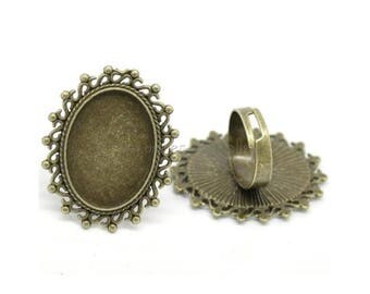 25x18mm - Bronze - Ring for cabochon 25x18mm