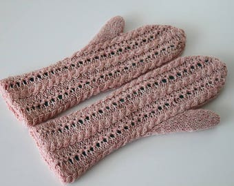 PDF knitting pattern, Julia mitts - adult reversible mitts knitting pattern