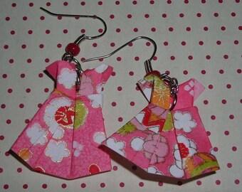 Dresses (origami dress earrings) origami earrings
