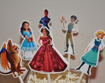 Elena of Avalor Cupcake Toppers set of 12