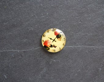 Cabochon 25 mm glass flower clock