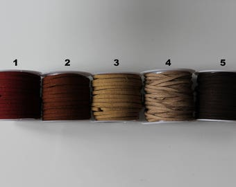 1 m cord suede imitation suede brown / beige to choose 3 mm