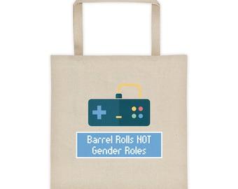 Barrel Rolls NOT Gender Roles Tote bag