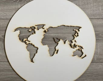 Rustic effect world map