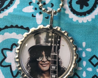 Slash Guns N Roses Necklace Pendant Ball Chain GNR Nineties Eighties Fangirl Groupie