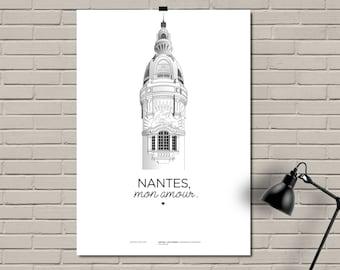 """Print/Affiche/Poster A3 - Lieu Unique - """"Nantes, mon amour."""""""