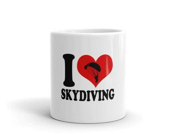 I Love Skydiving Skydiver Lover Mug