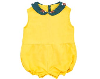 Designed short overall for baby girl