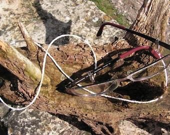 White seed beads and miyuki of glasses cord