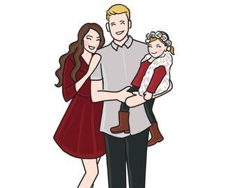 Custom Digital Family Portrait