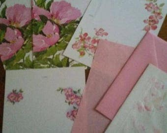 Vintage Stationery Collection ~ Pink Dogwood and Apple Blossoms Collection